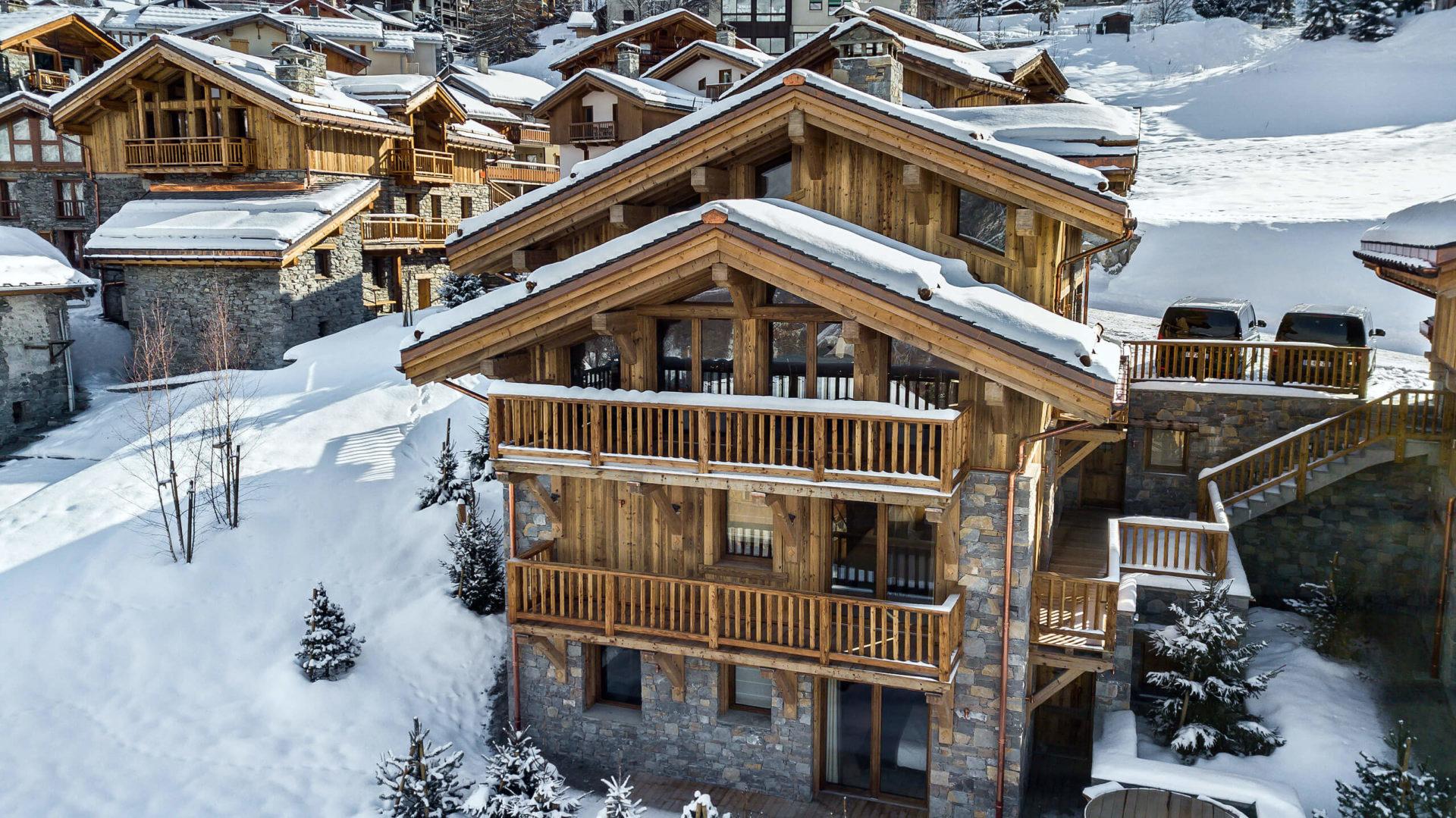 Les Chalets du Nant du Four / Vue 2 / Saint Martin de Belleville, Savoie