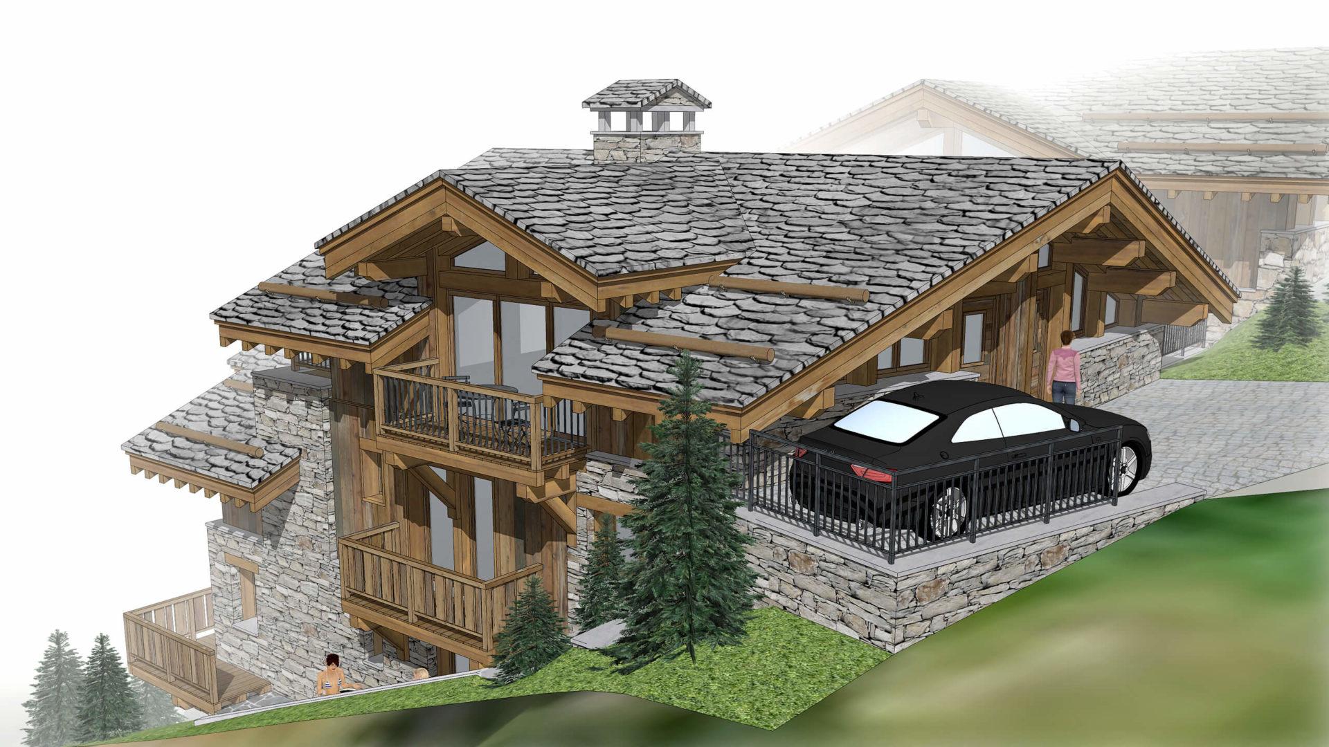 Les Chalets de la Combe Chalet 1 - Saint Martin de Belleville Savoie France