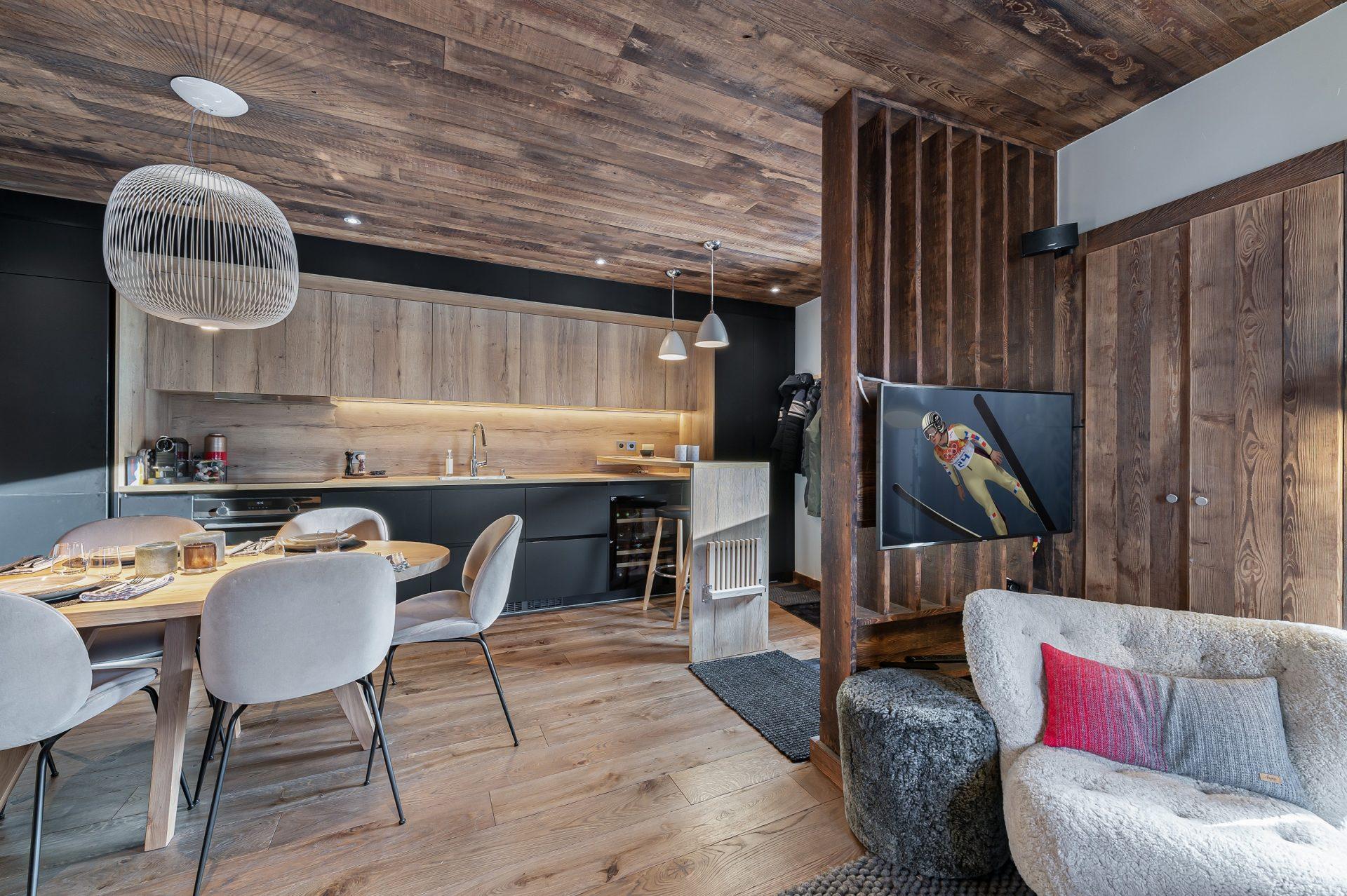 L'Epicerie / Appartement 3 / Vue du Salon / Saint Martin de Belleville, Savoie