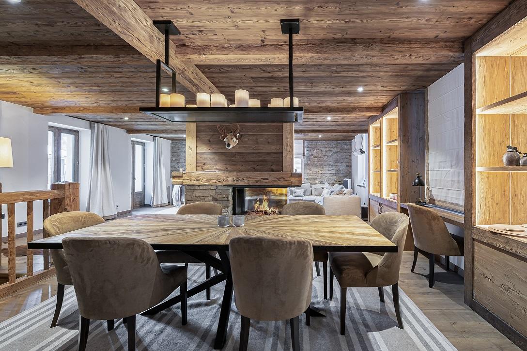 L'Epicerie / Appartement 1 / salle à manger / Saint Martin de Belleville, Savoie